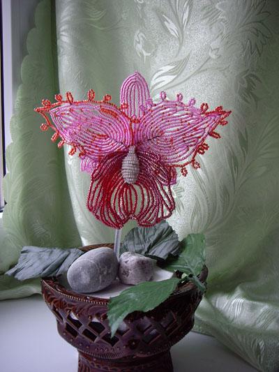 Орхидея Каттлея, бисер