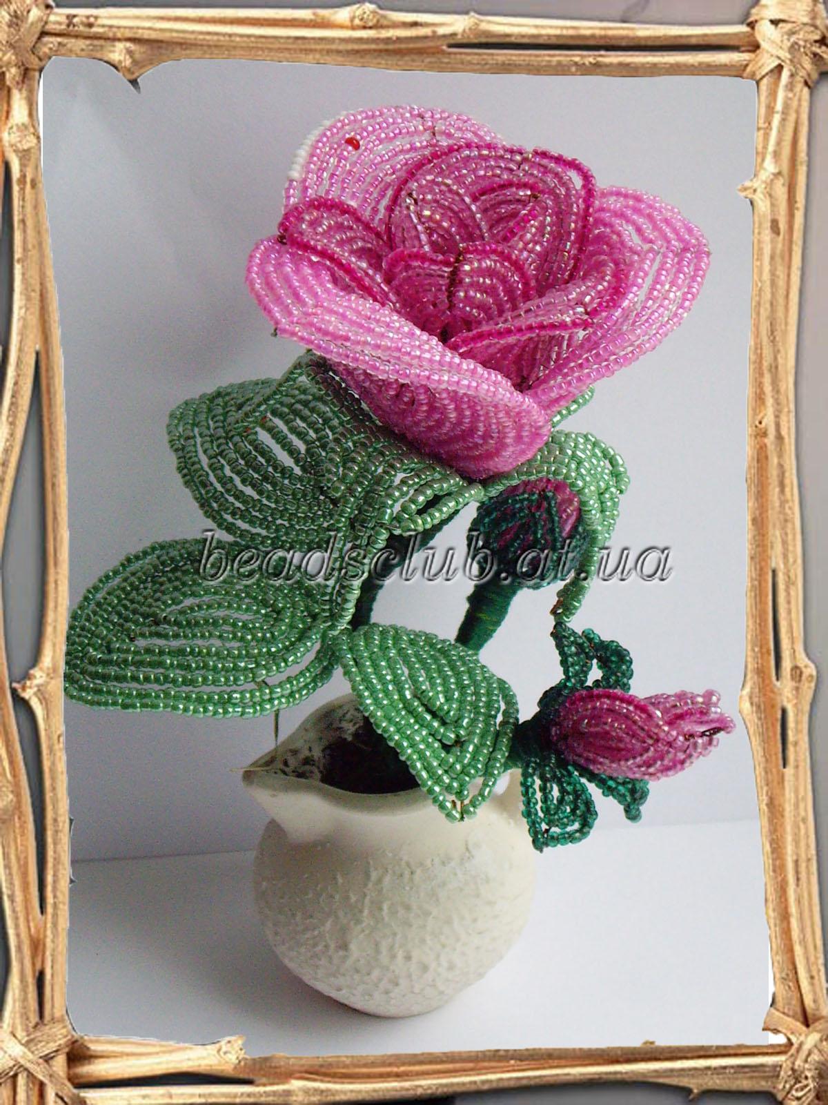 Садовые цветы из бисера мастер класс с пошаговым фото